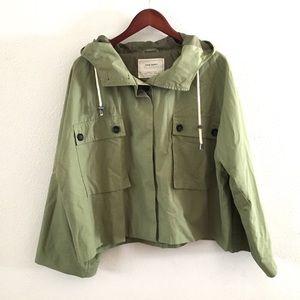 Zara Basic Green Lightweight Swing Jacket
